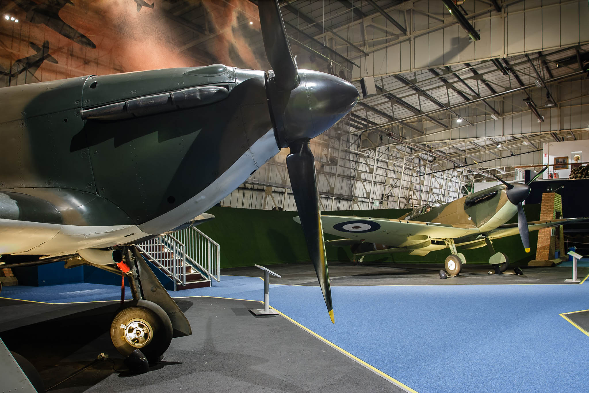 he Spitfire and Hurricane in the Battle of Britain Hall
