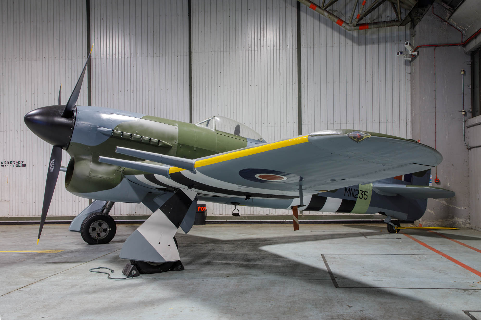 Hawker Typhoon 1B (MN235) on display at RAF Coningsby
